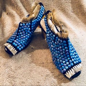 Joan & David mules embellished